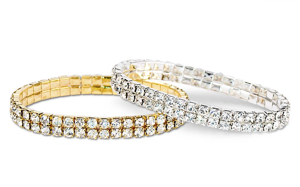 Gold and Silver Jeweled Bracelets, Jewelry photography by Roselle Jewelry photographer Controlled Color, Inc.