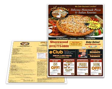 Roselle Pizza Box Topper Graphic Design from Roselle Graphic Designer Controlled Color, Inc.