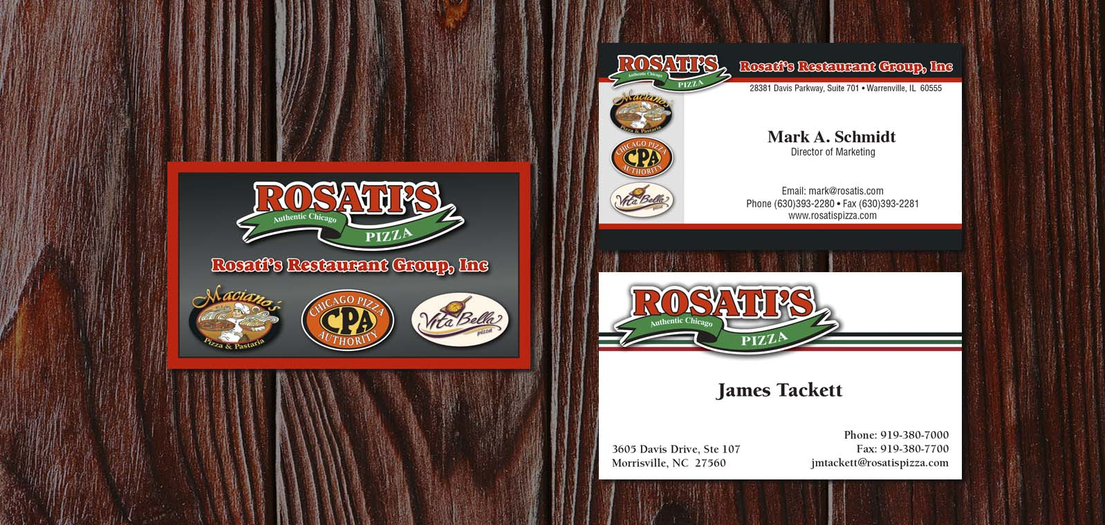 Business Card Graphic Design from Roselle Graphic Designer Controlled Color, Inc.