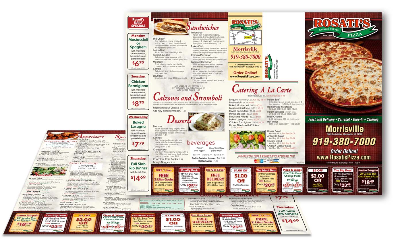 Mailer Menu Printing from Roselle Printer Controlled Color, Inc.