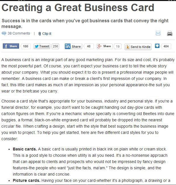 Business Card Design Tips image to help you get the perfect Business card from Chicago Business Card Printer Controlled Color, Inc.