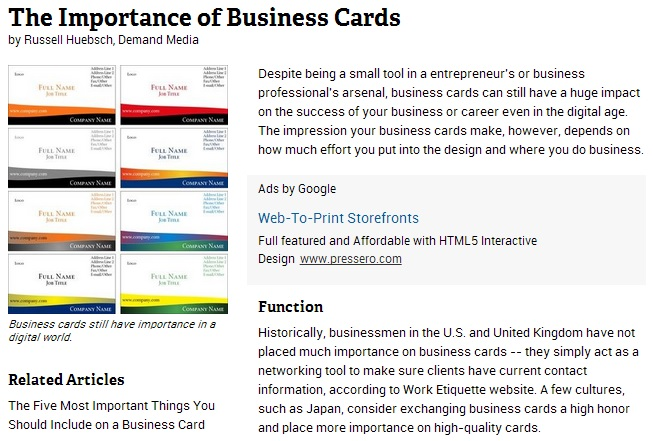 Graphic addressing the importance of Business Cards, and why you should use a trusted printing company in Chicago like Controlled Color, Inc.