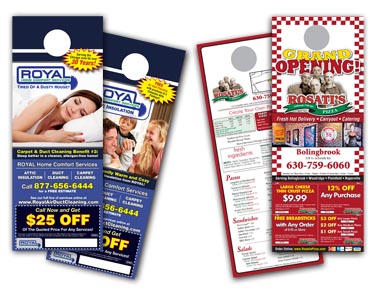 Door Hanger Printing, cheap door hanger printing, inexpensive door hanger printing, affordable door hanger printing, die cut door hanger printing, from Door Hanger Printer Controlled Color, Inc.