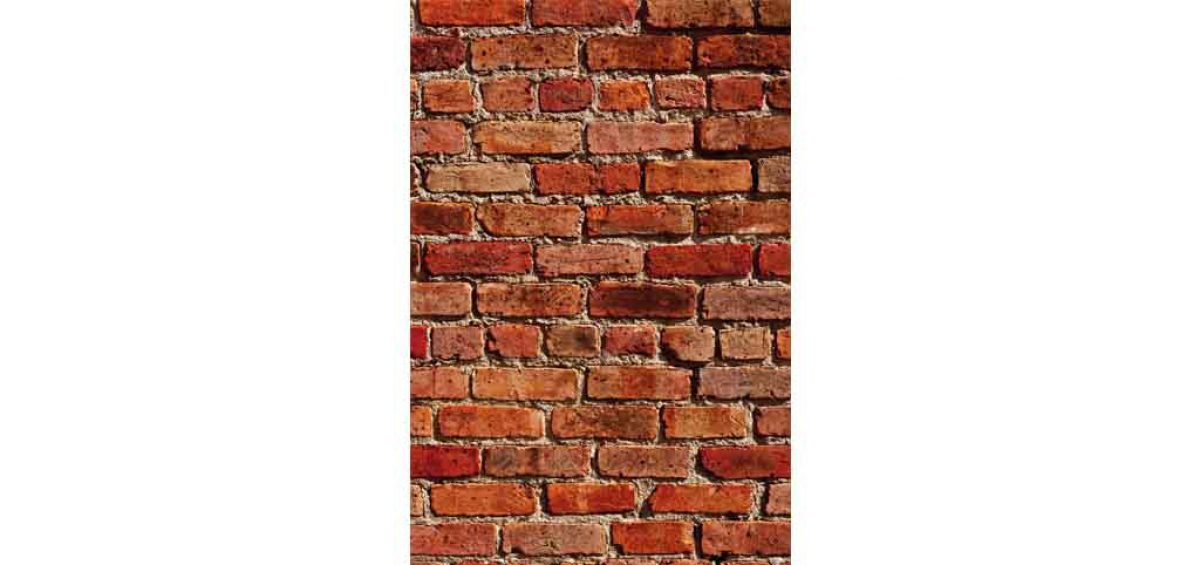 A photo of a brick wall, used in a composite image for Chicago Pizza Authority, created by Roselle Premedia company Controlled Color, Inc.