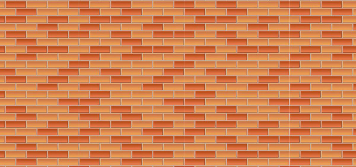 A picture of a brick wall, created in photoshop by CCI, used in a composite image for Chicago Pizza Authority, created by Roselle Premedia company Controlled Color, Inc.