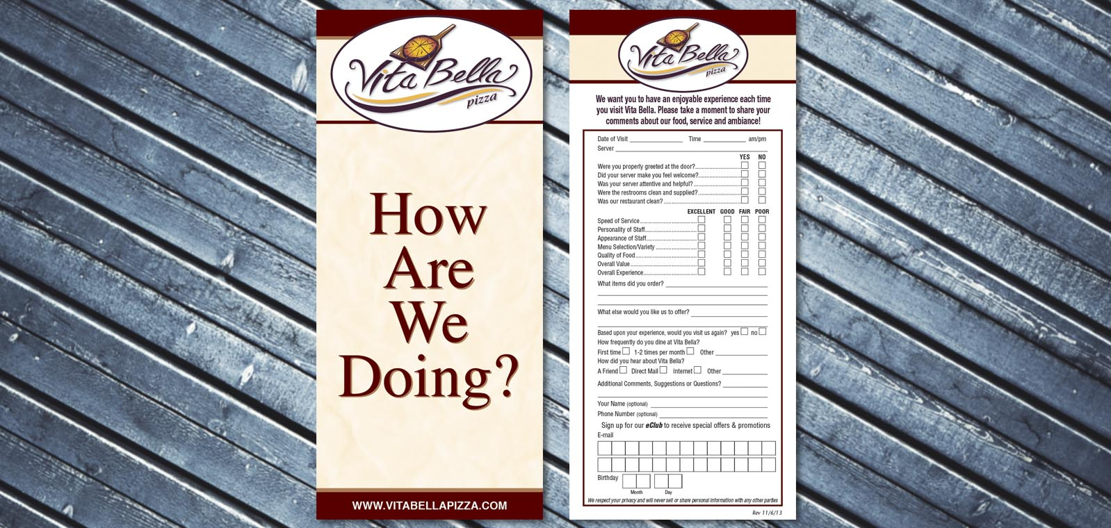 Comment Card Design from Roselle Graphic Designer Controlled Color, Inc.