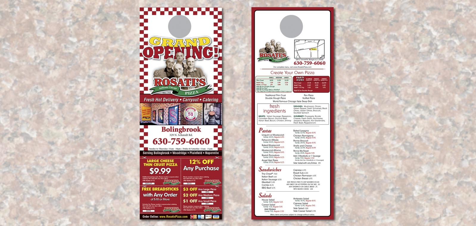 Doorhanger Graphic Design by Roselle Graphic Designer Controlled Color, Inc.