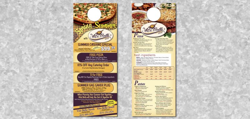 Door hanger Graphic Design by Roselle Graphic Designer Controlled Color, Inc.