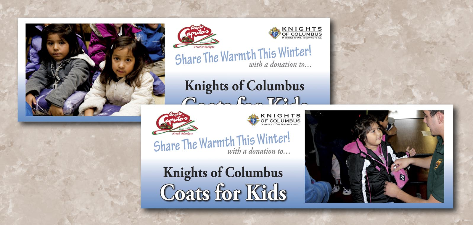 Signage Graphic Design for the Knights of Columbus, by Roselle Graphic Designer Controlled Color, Inc.