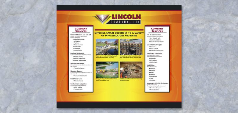 Trade Show Display Graphic Design for Lincoln Company, by Roselle Graphic Designer Controlled Color, Inc.