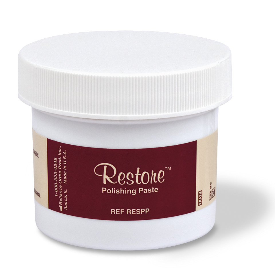 Restore Polishing Paste in Jar, product photography by Roselle Product photographer Controlled Color, Inc.