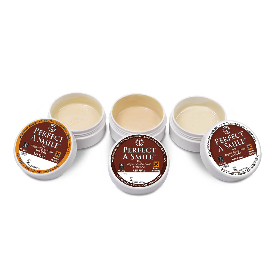 Perfect A Smile Pontic Paint, product photography by Roselle Product photographer Controlled Color, Inc.