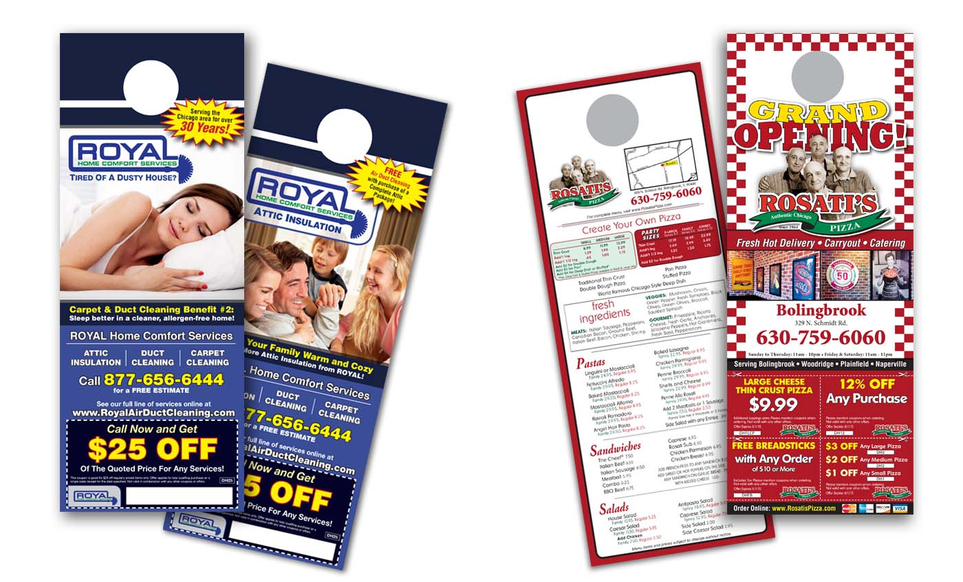 Roselle Door Hanger Printing from Roselle Printer Controlled Color, Inc.