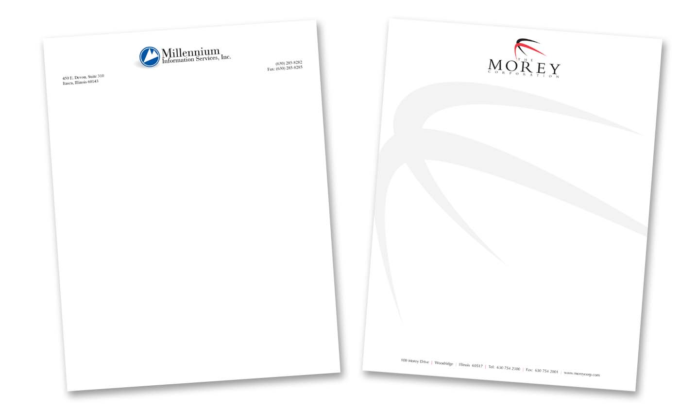 Roselle Letterhead Printing from Roselle Printer Controlled Color, Inc.