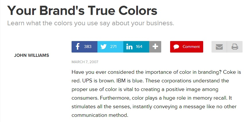 Graphic addressing the significance of Brand Color, and the importance of reproducing accurate color, by using a quality commercial printing company in Chicago like Controlled Color, Inc.