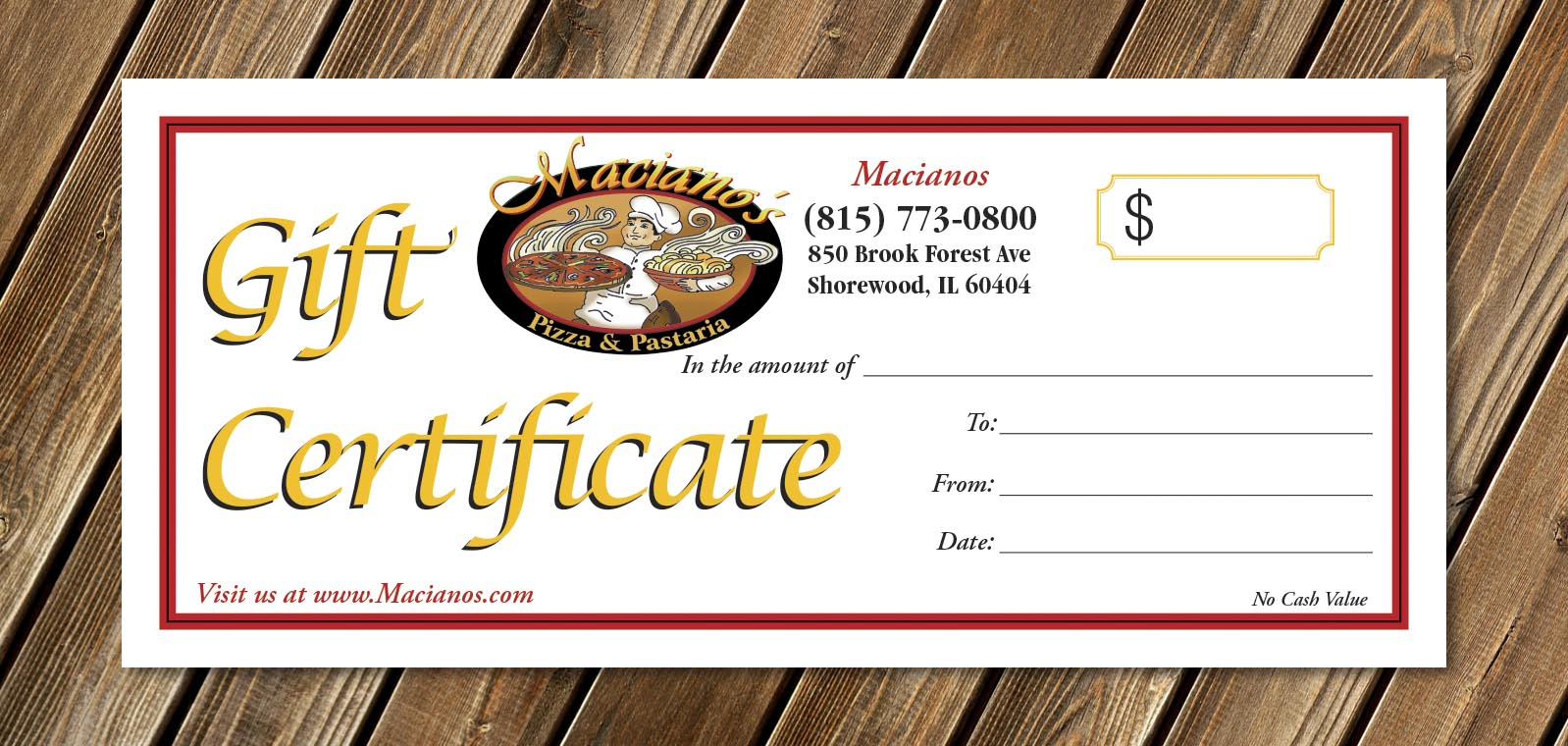 cool gift certificate designs