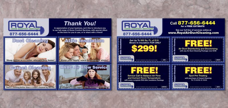 Leave behind card design from Roselle Graphic Designer Controlled Color, Inc.