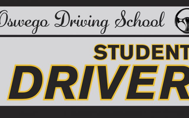 Vehicle magnet design for a student driver, suitable for car door magnet, vehicle door magnet, van door magnet, or truck door magnet